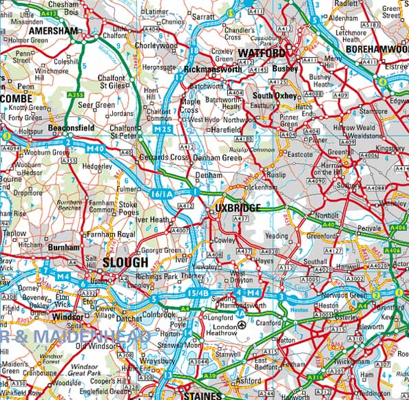 Map Of West London Uk  London Map